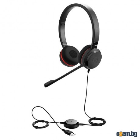 Jabra EVOLVE 30 II UC Duo USB - Професионална микрогарнитура